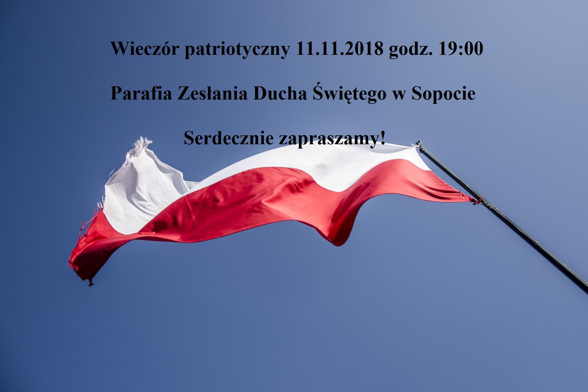 Wieczór Patriotyczny na100-lecie niepodległości Polski
