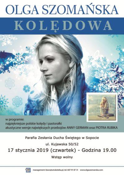 Plakat - koncert kolęd 2019-01-17