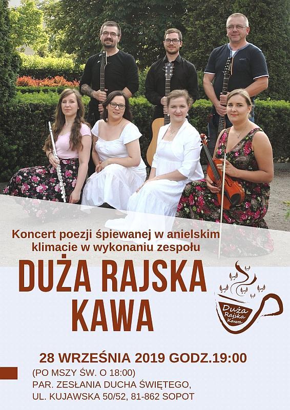 koncert wnaszej Parafii - 28.09.2019, zespół Duża Rajska Kawa